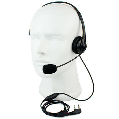 RETEVIS 2 PIN PTT Mic Headphone Headset for KENWOOD/RETEVIS/QUANSHENG/BF/WOUXUN