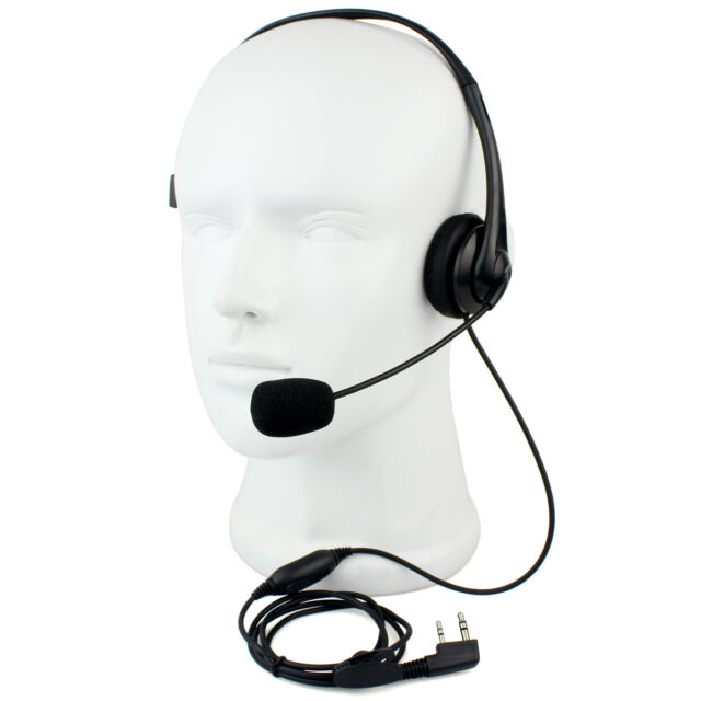 RETEVIS 2 PIN PTT Mic Headphone Headset for KENWOOD RETEVIS WOUXUN HYT