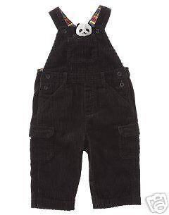 Gymboree New Panda Bear Corduroy Overall 3-6 Months NWT