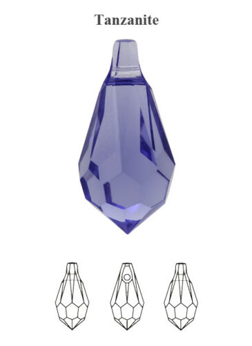 Many Sizes /& Colors Genuine SWAROVSKI 6000 Teardrop Crystals Pendants