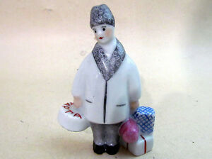 8 MARCH Internetional Women's Day Porcelain FIGURINE Rare Vintage USSR CCCP