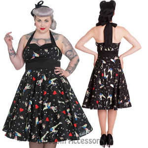 5e8e9fb9e0 RKP36 Hell Bunny Forever Dead 50s Dress Rockabilly Retro Pin Up Punk ...