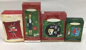 Hallmark-Keepsake-Ornaments-Barbie-Collection-Set-Of-4-Details-In-Description