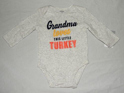 New Carters Baby Grandma Little Turkey One Piece First Thanksgiving  3 9 12 M