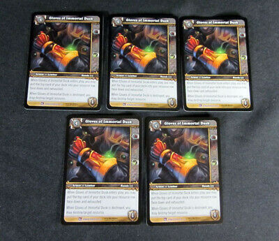 5 World of Warcraft WoW TCG Goblin Rocket Launcher Crafting Item Epic Lot of