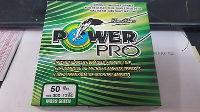 1 Spool Power Pro Spectra Braid Moss Green 30 Pound 300 Yards NEW