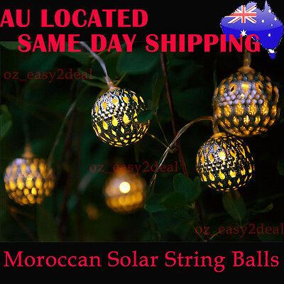 Christmas Light Balls.Moroccan Solar String Lanterns Led Fairy Garden Christmas