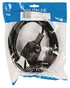 Valueline-Cable-d-039-alimentation-Schuko-Droit-Male-Schuko-femelle-droite-3-m-Noir
