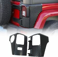 Pair Rear Corner Armor Tail Light Cover Panel Guard For Jeep Wrangler Jk 07 17 Fits Jeep
