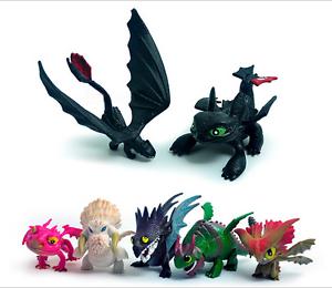 7pcs how to train your dragon drachenzähmen leicht gemacht figuren spielzeug toy | ebay