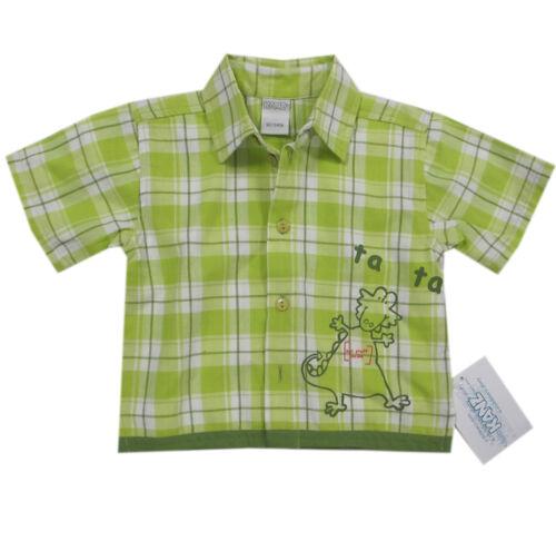 Libel Chemise manches courtes coton garçon été bébé Vert Taille 62,68 NEUF!!!