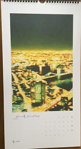 "Slawomir Elsner ""windows On The World 10"" Hand-signiertes & Dat Kalenderblatt Elegantes Und Robustes Paket"