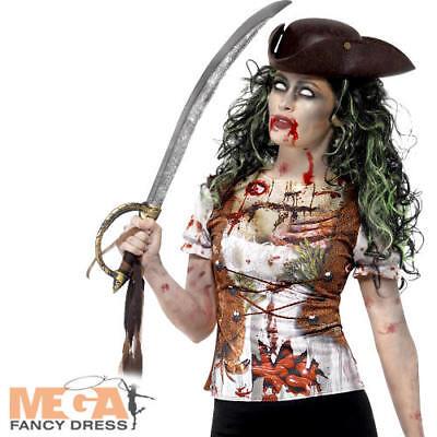 Top Pirata Zombie Donna Halloween Abito Da Donna Adulti Costume Horror Nuovo-mostra Il Titolo Originale Essere Altamente Elogiati E Apprezzati Dal Pubblico Che Consuma