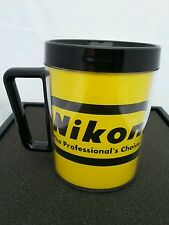 NIKON the Professional's Choice Mug Cup Plastic Yellow & Black VINTAGE