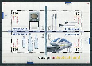 Bund-Block-50-postfrisch-BRD-2068-2071-Design-in-Deutschland-1999-MNH