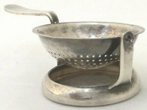 Christofle France Silver Plated Tea Strainer Hallmarked in 2 Places Mid Century