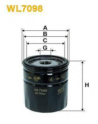 WIX FILTERS WL7098 OIL FILTER  PA516860C OE QUALITY