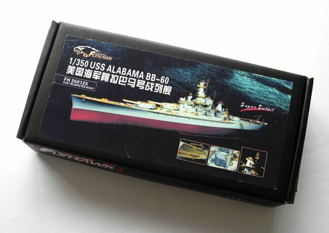 Flyhawk FH3550125 1 350 USS Alabama BB-60 Detailing Set (voor Trumpet 05307)