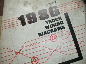 1986 Ford F600 F700 F800 CAB Electrical Wiring Diagrams ...