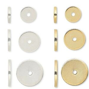 20-Steel-Metal-Flat-Spacer-Disc-Heishi-Rondelle-Beads-Small-Big-1mm-Thick