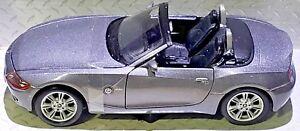 BMW-Z4-Gris-Metalico-2-5-L-Roadster-1-24-Scale-Die-Cast-Maisto-Edicion-Especial