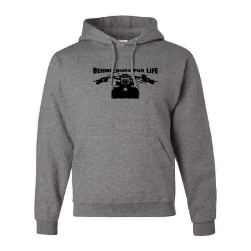 Behind Bars For Life Funny Street Bike Outerwear Mens Motorcycle Pullover Hoodie