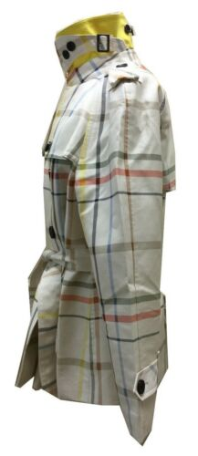 Carreaux Tattersall Short Classique 83347 Veste Multicolore Coach À Coat Trench 6wACZ7q