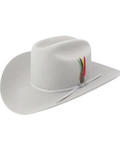 Stetson 6X Silverbelly Rancher Fur Felt Cowboy Hat Silverbelly 6 7//8