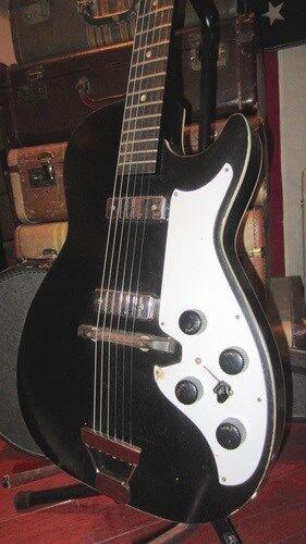 Vintage Original Circa 1964 SilGrünone Model 1420 Double Pickup Electric Guitar