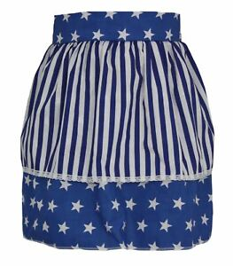 Ladies-Blue-Star-Pinafore-With-White-amp-Blue-Stripe-Apron-Mothers-Day-Gift-Idea