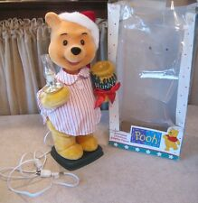 """Vtg 1995 Telco Winnie The Pooh Animated Lighted Christmas Motionette- 22"""" tall"""