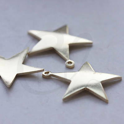 10 Pieces Raw Brass Star Charm CW-3800C-J-327 26.4x24.6mm