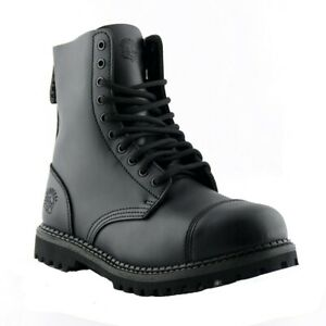 Grinders-Stag-CS-Black-Boots-Safety-Steel-Toe-Cap-10-Eye-Hole-Military-Punk