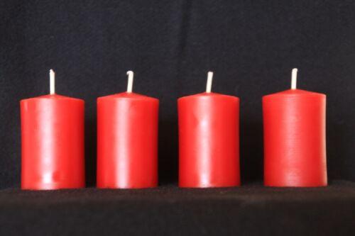 10 rote Bienenwachskerzen Stumpen 100/% BW 3,8 x 5,5 cm Teelichtdurchmesser