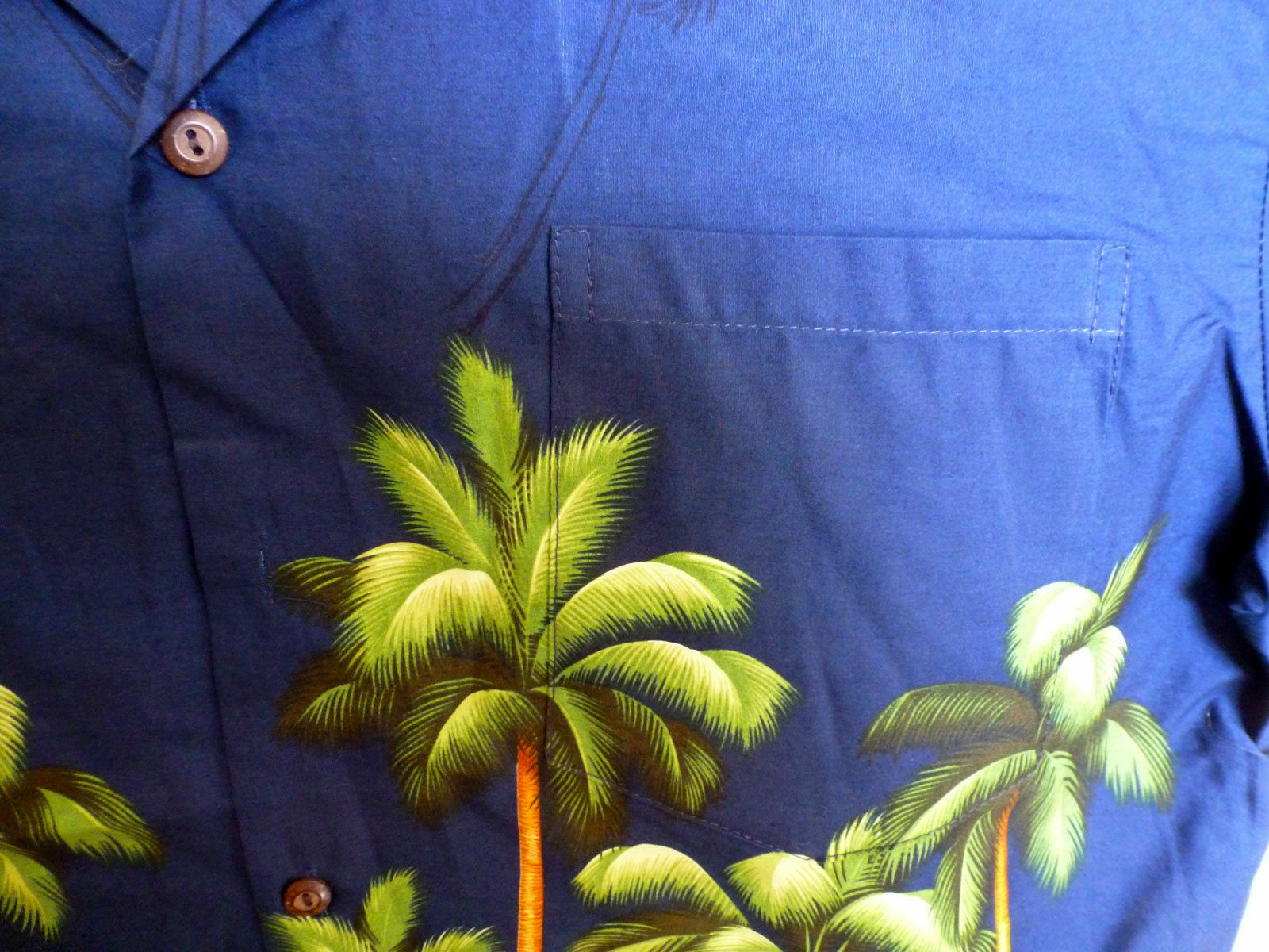 KY's Original di Camicia Hawaiana Foresta di Original Palme Verdi verde Palmforest Blu 69c46d