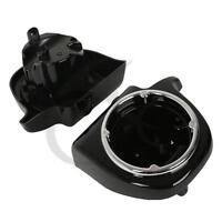 Vivid Black 6.5 Speaker Pod Lower Vented Fairing Fit Harley Davidson Touring Fl