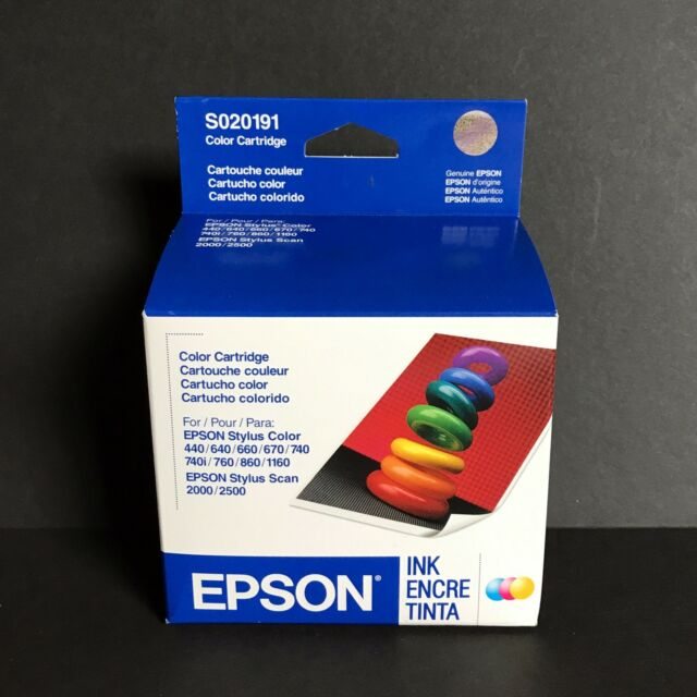 Genuine Epson S020191 Color Ink Cartridge Expired Sealed