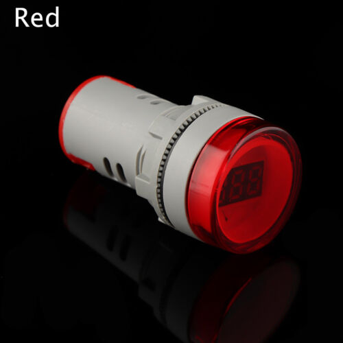 22MM AC60-500V Red LED Voltmeter Voltage Meter Indicator Pilot Light DIY bb