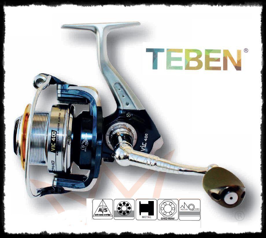 Mulinello Teben Vicpho match frizione anteriore bobina larga pesca ledgering