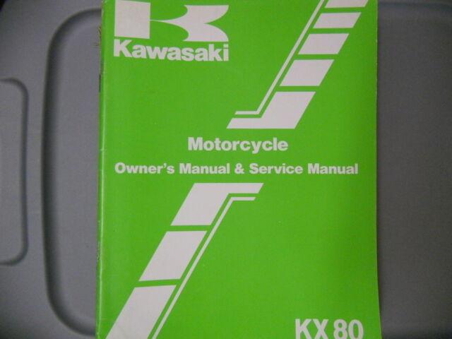 Kawasaki Factory Service Repair Shop Manual 1983 Kx80 E1