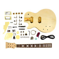 Electric Guitar DIY Kit - Left Hand LP Body Style - Unfinished Project Luthier