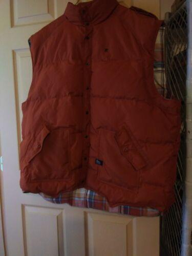 Men ROCAWEAR sz 3X quilted vest coat Jacket rust o
