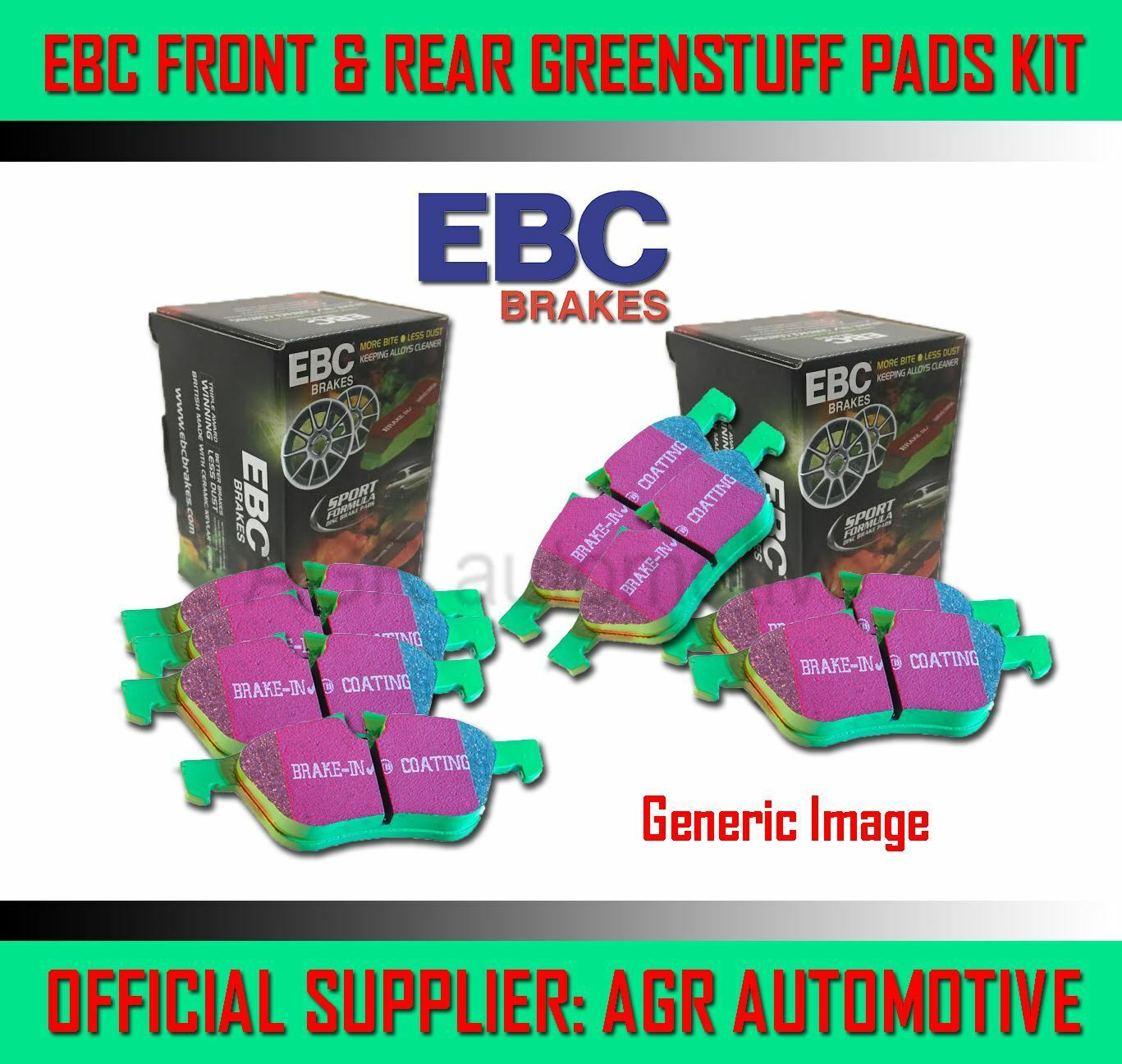 EBC GREENSTUFF PADS DP2294 FOR LAND ROVER DEFENDER 90 2.2 TD 2011