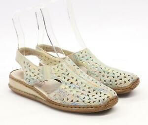 Rieker-Feminino-Tamanho-38-da-UE-Multi-colorido-cortado-Sandalias