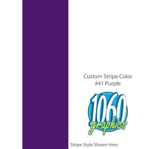 "PURPLE 22/"" inch wide Racing Stripes SOLID 1/"" Custom Vinyl Decal"