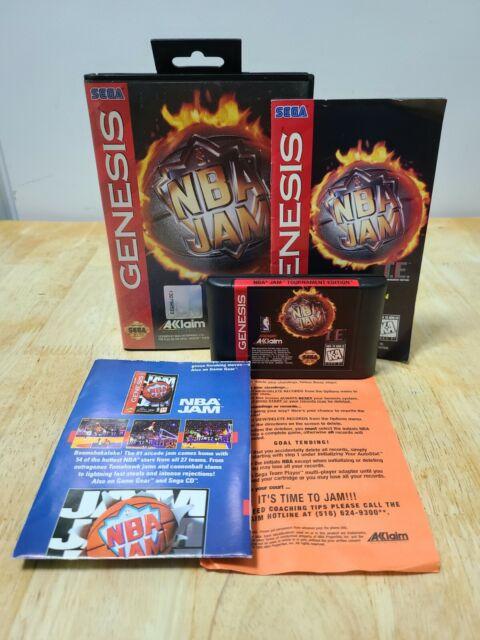 NBA Jam T.E. (Sega Genesis, 1995) Complete super mint cart!