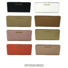 Michael Kors Jet Set Travel Flat Slim Bifold Saffiano Leather Wallet $148