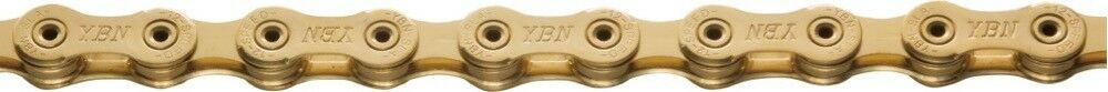 New YBN12 Speed SLA-1210 Bike Bicycle Chain with Hollow Pin Road MTB - gold