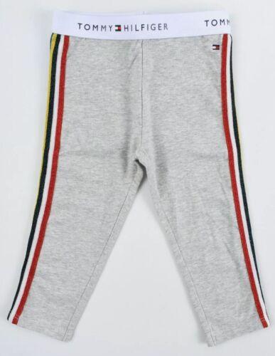 TOMMY HILFIGER Baby Girls/' Cotton Leggings Grey//Metallic Stripes size 24 m