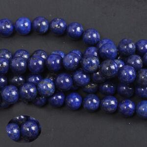 Natural-Lapis-Lazuli-Gemstone-Round-Spacer-Loose-Beads-DIY-4-6-8-10-12MM
